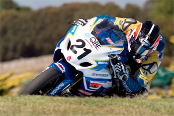 Team Suzuki's Josh Waters claimed victory in the first round of the 2012 ASBK series. Image: Andrew Gosling/TBG Sport.