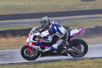 Allerton heads wet Friday ASBK action at Queensland Raceway