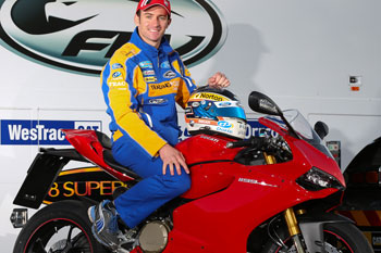 Will Davison takes delivery of Ducati 1199 Panigale S