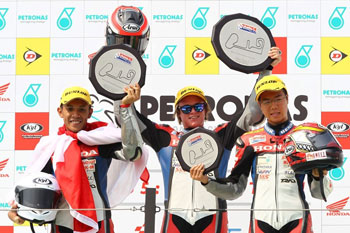 Hook wins on CBR250R at Taiwan round of Asia Dream Cup