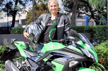 Lauryn Eagle joins Kawasaki Australia as brand ambassador