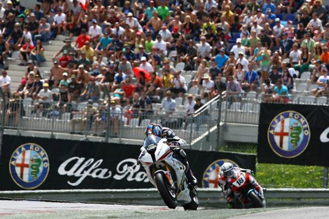 Erwan Nigon claimed the double win as the IDM German Superbike Championship took to the Red Bull Ring. Image: IDM.de.
