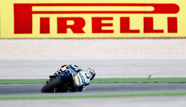 Marco Melandri on his way to the race one win at Portimao.