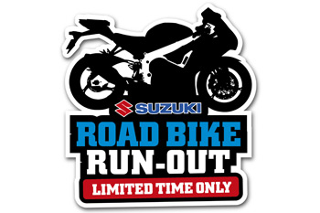 Suzuki Road Bike Run-Out offering generous factory bonuses