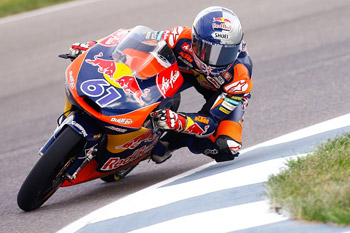 Sissis pleased to lead first ever laps of Moto3 race