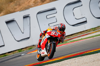 Honda's Marquez sets early practice pace at home GP in Spain