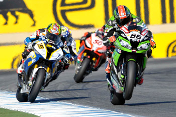 Sykes takes out eventful opening WSBK race at Laguna Seca