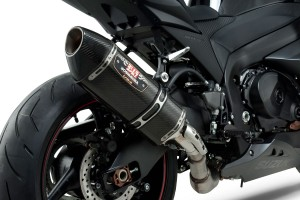 Bonus Yoshimura muffler on Suzuki supersport legends