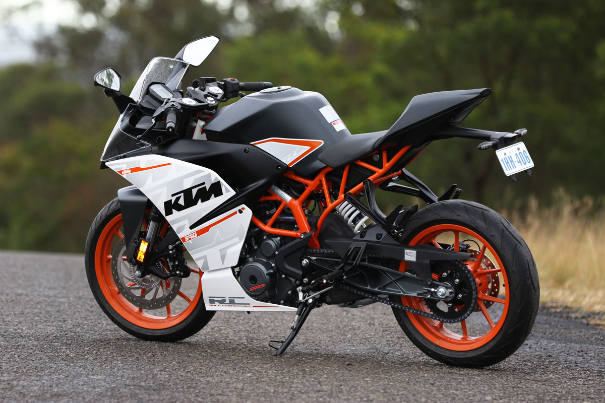 white ktm rc 390 - photo #48