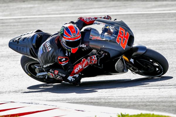 Lowes getting to grips with Aprilia's MotoGP machine