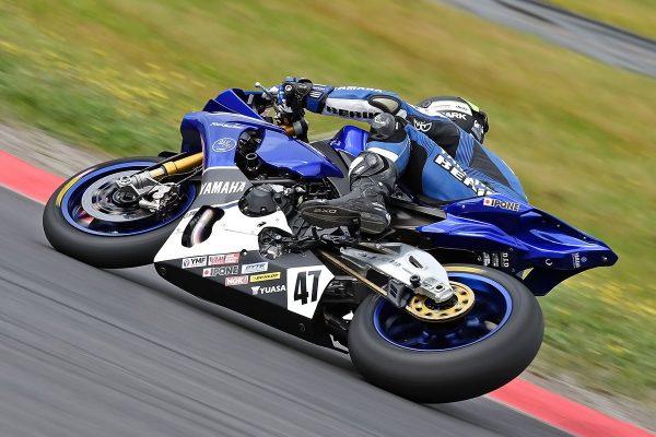 Yamaha Racing Team carrying out Dunlop ASBK tyre development