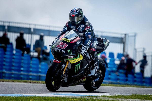 Parkes gets to grips with Monster Yamaha on Friday