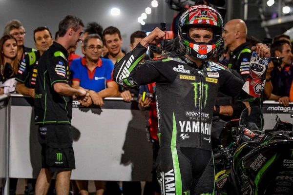 Record lap lands Zarco on MotoGP pole at Losail