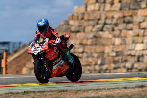 Melandri fastest in WorldSBK on Friday at Aragon