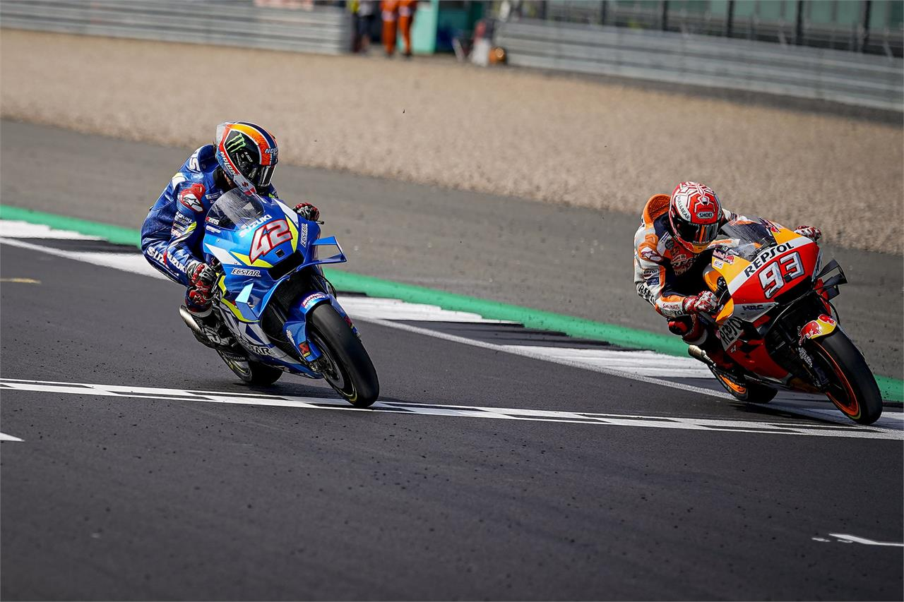 Rins steals victory from Marquez in Silverstone thriller ...