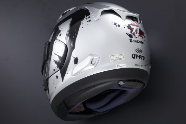 arai qv pro suzuki katana helmet