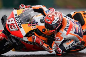 Slick gamble pays off for Marquez and Miller in Brno qualifying