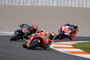 Miller on the podium while Marquez captures Valencia win