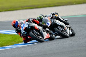 Narrow race three win grants Bayliss maiden Supersport overall victory
