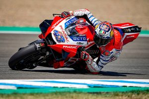Positive first day back for Miller results in eighth overall