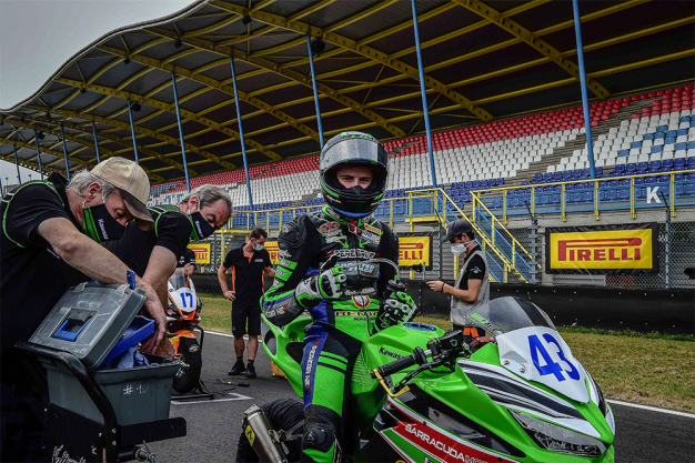 Harry Khouri on the grid in Assen, round one, 2020